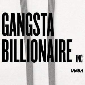 White gangsta billionaire inc by wam Buttons - Contrast Hoodie