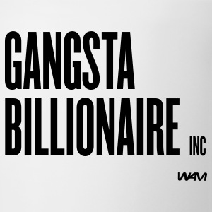 White gangsta billionaire inc by wam Buttons - Coffee/Tea Mug