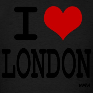 Black i love london by wam Hoodies - Men's T-Shirt