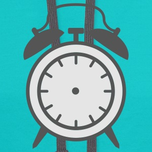 Turquoise alarm clock - no clockhands T-Shirts - Contrast Hoodie