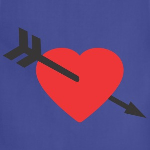 Navy Amor Heart and Arrow Women's T-shirts - Adjustable Apron