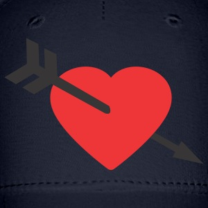 Navy Amor Heart and Arrow Women's T-shirts - Baseball Cap