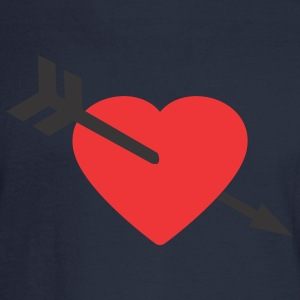 Navy Amor Heart and Arrow Women's T-shirts - Men's Long Sleeve T-Shirt