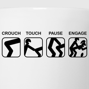 White Crouch, Touch, Pause, Engage Women's T-shirts - Coffee/Tea Mug