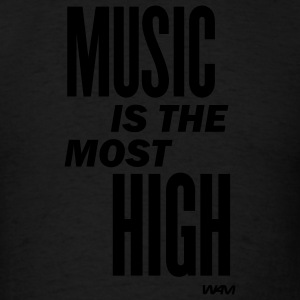 Black music is the most high by wam Hoodies - Men's T-Shirt