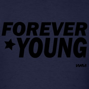 Navy forever young by wam Hoodies - Men's T-Shirt