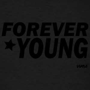 Black forever young by wam Tanks - Men's T-Shirt