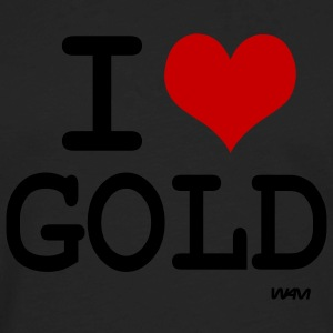 Black i love gold by wam Kids Shirts - Men's Premium Long Sleeve T-Shirt