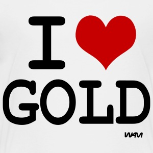 White i love gold by wam Kids Shirts - Toddler Premium T-Shirt
