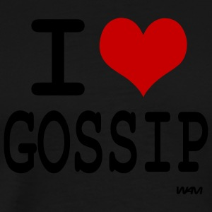 Black i love gossip by wam Long sleeve shirts - Men's Premium T-Shirt