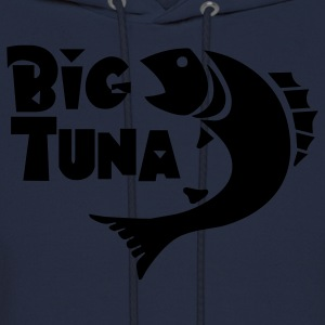 Navy Funny Big Tuna graphic T-Shirts - Men's Hoodie