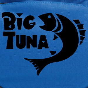 Navy Funny Big Tuna graphic T-Shirts - Computer Backpack