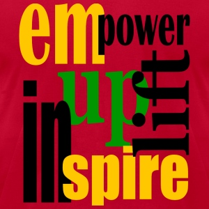 Red Empower, Uplift, Inspire - Yellow, Blk, Grn--Digital Direct Long sleeve shirts - Men's T-Shirt by American Apparel