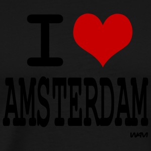 Black i love amsterdam by wam Long sleeve shirts - Men's Premium T-Shirt