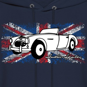 Navy Austin-Healey - AUTONAUT.com T-Shirts - Men's Hoodie