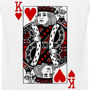 White king of hearts T-Shirts - Men's Premium Tank