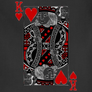Black king of hearts T-Shirts - Adjustable Apron