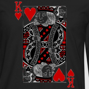 Black king of hearts T-Shirts - Men's Premium Long Sleeve T-Shirt