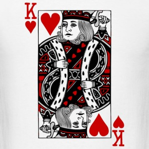 White king of hearts Long sleeve shirts - Men's T-Shirt