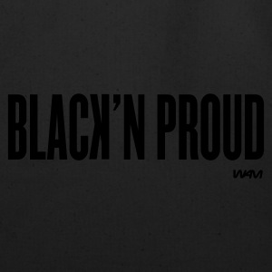 Black black and proud by wam Hoodies - Eco-Friendly Cotton Tote
