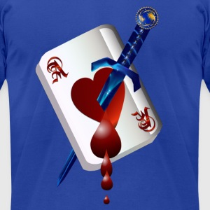 Ace Of Hearts and Dagger - Men's T-Shirt by American Apparel