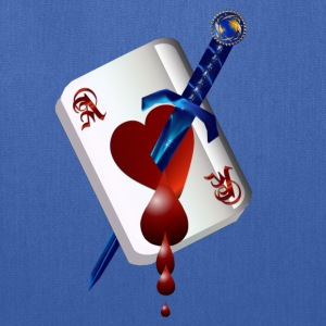 Ace Of Hearts and Dagger - Tote Bag