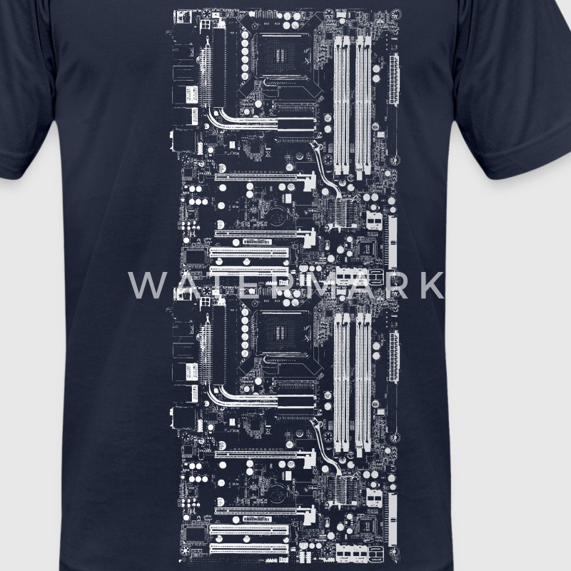 Navy Computer Design T-Shirts - Men's T-Shirt by American Apparel