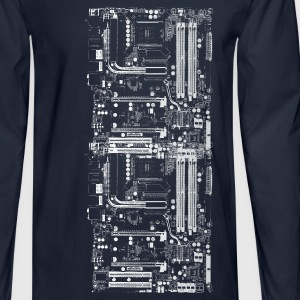 Navy Computer Design T-Shirts - Men's Long Sleeve T-Shirt