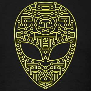 Black Alien Circuit Board  Hoodies - Men's T-Shirt