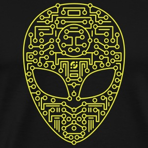 Black Alien Circuit Board  Hoodies - Men's Premium T-Shirt
