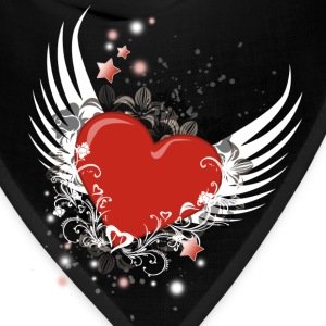 Heart & Wings Design - Bandana