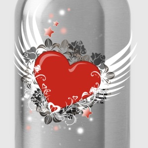 Heart & Wings Design - Water Bottle