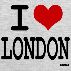 Heather grey i love london by wam Women's T-shirts - Men's Premium Tank