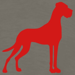 Khaki Great Dane pure T-Shirts - Men's Premium Long Sleeve T-Shirt