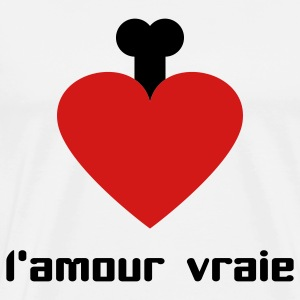 White l´amour vraie Long sleeve shirts - Men's Premium T-Shirt