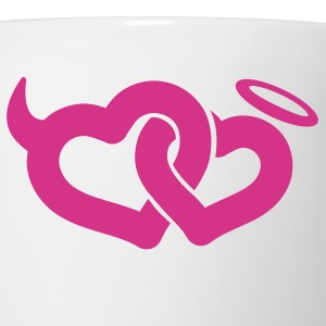 White devil & angel hearts T-Shirts - Coffee/Tea Mug