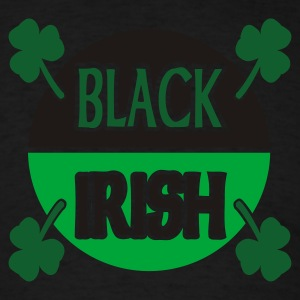 Black Black Irish With Circle And Shamrocks Long sleeve shirts - Men's T-Shirt