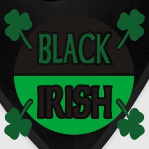 Black Black Irish With Circle And Shamrocks Zippered Jackets - Bandana
