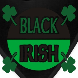 Black Black Irish With Circle And Shamrocks Baby Shirts - Bandana