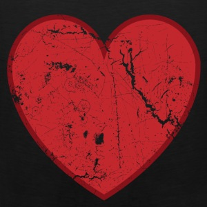 Black Cool Valentine Vintage Heart T-Shirts - Men's Premium Tank