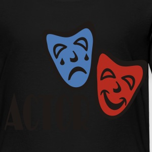 Black Actor With Comedy Tragedy Masks Sweatshirts - Toddler Premium T-Shirt