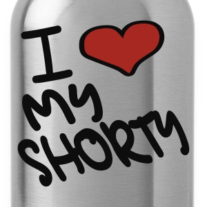 Heather grey I Heart My Shorty With Heart Long sleeve shirts - Water Bottle