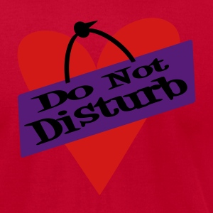 Red Heart Do Not Disturb Long sleeve shirts - Men's T-Shirt by American Apparel