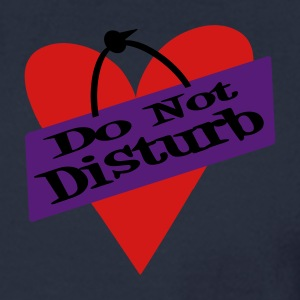 Ash  Heart Do Not Disturb Zippered Jackets - Men's Long Sleeve T-Shirt