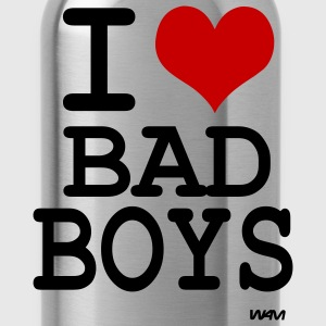 Black i love bad boys by wam Tanks - Water Bottle