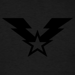 Lightning Star Insignia - Reflective - Men's T-Shirt