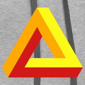 Ash  optical illusion - tribar T-Shirts - Contrast Hoodie