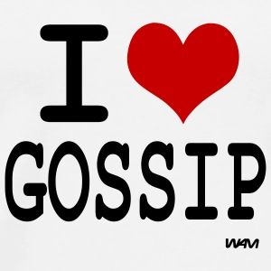 White i love gossip by wam Buttons - Men's Premium T-Shirt