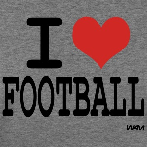 Deep heather i love football by wam Women's T-shirts - Women's Wideneck Sweatshirt