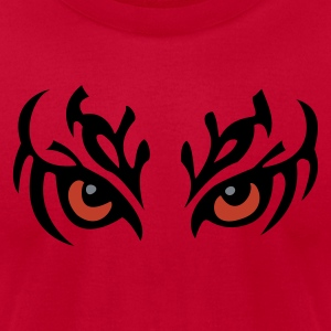 Red Tribal Eyes Sweatshirts - Men's T-Shirt by American Apparel